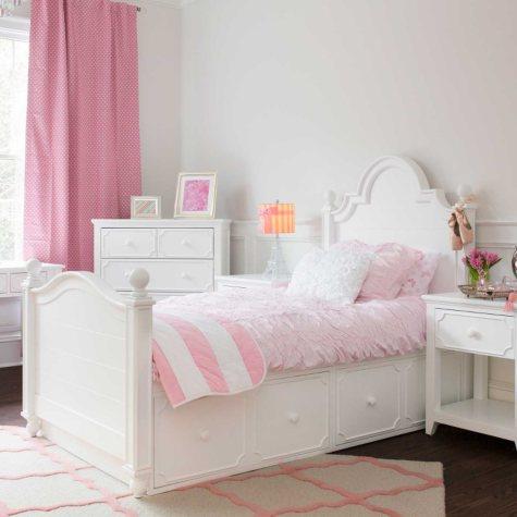 Sydney 4-Drawer Storage Bed, White (Full Size)