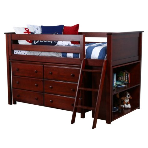 TWINLOFT+DR+BCASE YOUTH LOFT BED