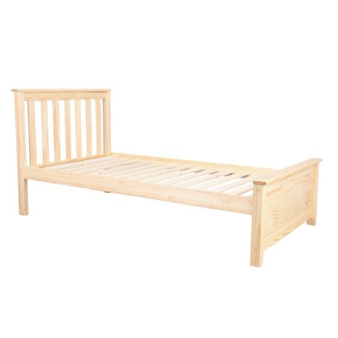 Max & Lily Solid Wood Twin-Size Bed (Assorted Colors)