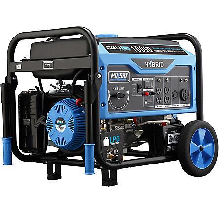 Pulsar 8,000/10,000-Watt Dual-Fuel Electric-Start Portable Generator