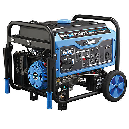 Pulsar 9,500/12,000-Watt Dual-Fuel Electric/Recoil Start Portable Generator