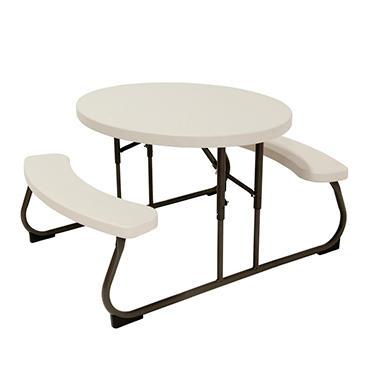 Lifetime Children S Oval Picnic Table Almond Sam S Club