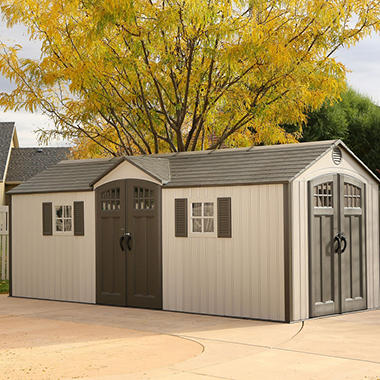 Lifetime 20u0027 X 8u0027 Outdoor Storage Shed Building