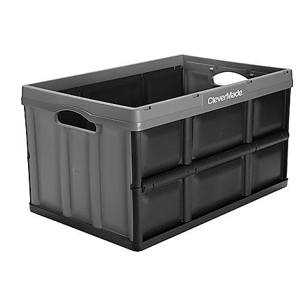 Clever Crates 62-L/16.3-Gl Folding Crate - 3-pk