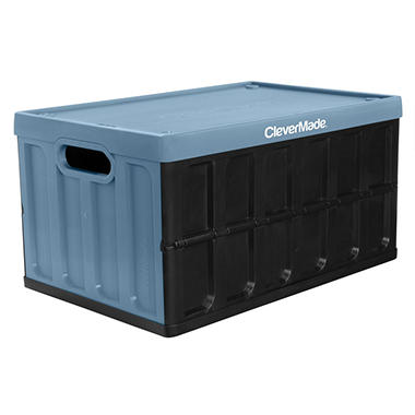 CleverMade CleverCrates 62L Collapsible Storage Crate With Lid