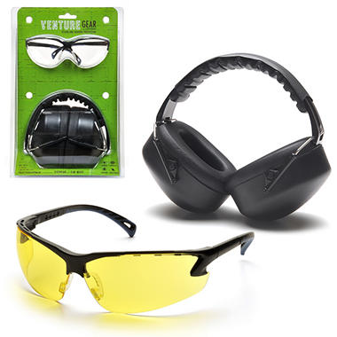 Earmuffs & Eyewear Package - Amber Lens