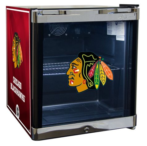 NHL Glass Door 1.8-cu. ft Refrigerated Beverage Cooler (Choose Your Team)