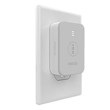 Stacked Wall Charger (White)