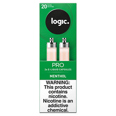 Logic Pro Capsules Menthol, 20 mg/ml (2 ct.)