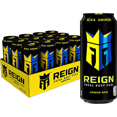 Reign Total Body Fuel, Lemon HDZ (16 oz. /12 pk.)