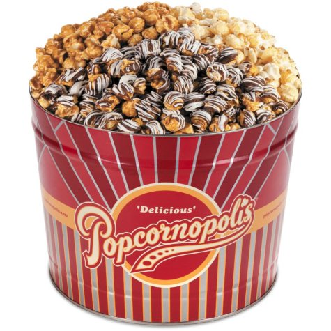 3-Way Classic Gourmet Popcorn Tin