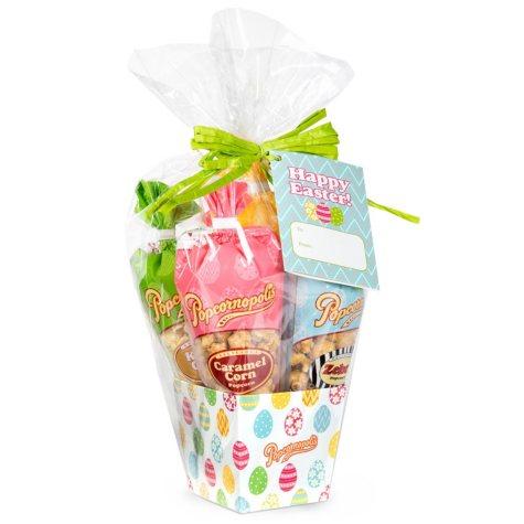 Popcornopolis Mini Cones Easter Gift Basket