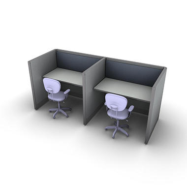 SNAP!Office - 2-Person Basic Cubicles - Cool Water Color Combo
