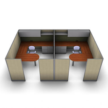 SNAP!Office 2-Person Executive Workstation - Urban Jungle Color Combo