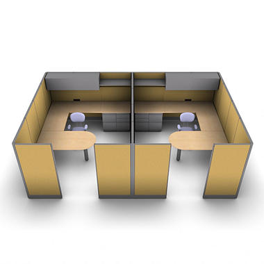 SNAP!Office - 2-Person Executive Workstation - Desert Scapes Color Combo
