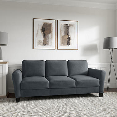 Denver Teardrop-Arm Sofa, Grey