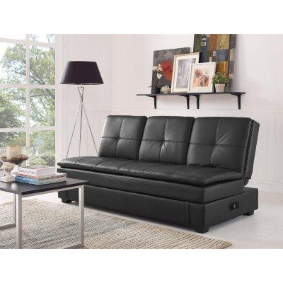 Serta Axis Convertible Storage Sofa with USB Ports Sams Club