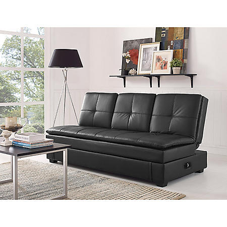 Serta Axis Convertible Storage Sofa With Usb Ports Sam S