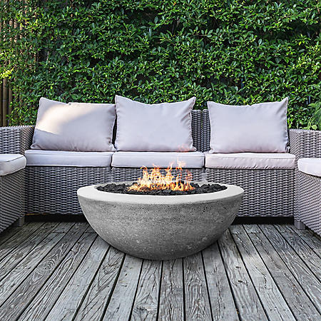 "Madrid 30"" Fire Bowl & Propane Tank Enclosure"