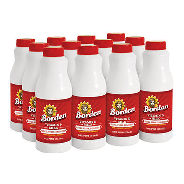 Borden Whole Milk  Pints (12 oz., 12 pk.)