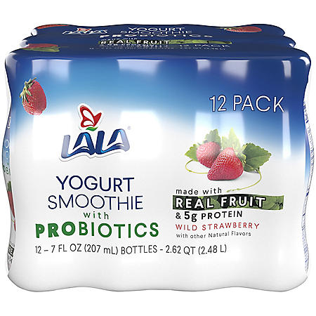 LALA Yogurt Smoothie, Wild Strawberry (7 fl. oz. bottle, 12 pk.)