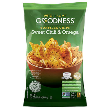 Wholesome Goodness Sweet Chili & Omega Tortilla Chips (24 oz.)