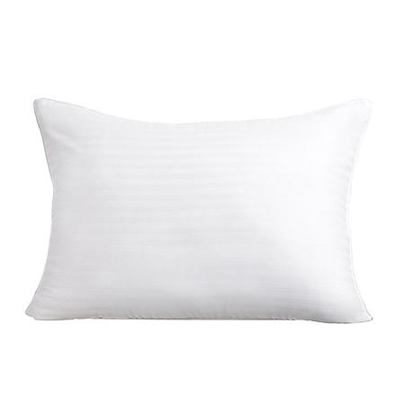 HomeLuxe Dobby Stripe Gel Fiber 2-Pack Medium Support Pillow