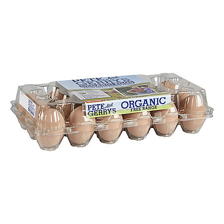 Pete and Gerry's Organic Free Range Large Grade A Eggs (18 ct.)