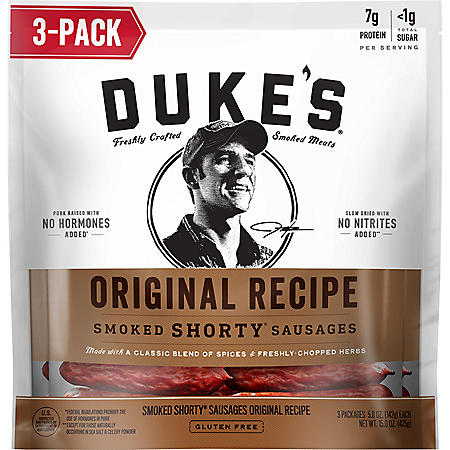 Duke's Original Recipe Smoked Shorty Sausages (5 oz., 3 pk.)