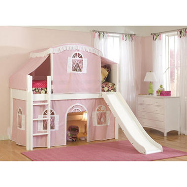 Cottage Playhouse Tent Twin Loft Bed White  sc 1 st  Samu0027s Club & Cottage Playhouse Tent Twin Loft Bed White - Samu0027s Club