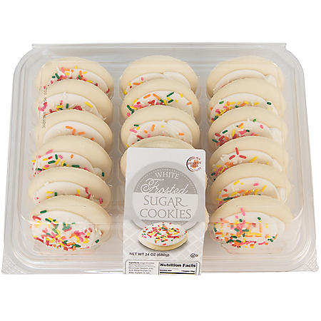 iBake White Iced Frosted Sugar Cookies (18 ct.)