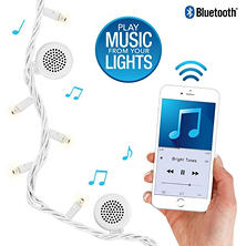 Bright Tunes Indoor/Outdoor White LED String Lights with Bluetooth Speakers (White Cord)