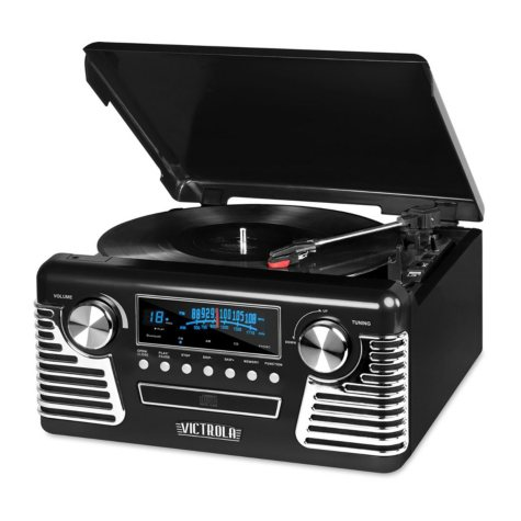 Victrola Retro Record Player Stereo with Bluetooth and USB Digital Encoding
