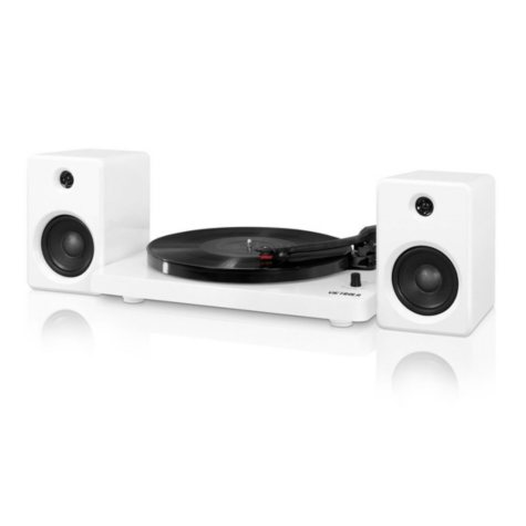 Victrola Modern Design 50 Watt Record Player with Bluetooth and 3 Speed Turntable - Various Colors