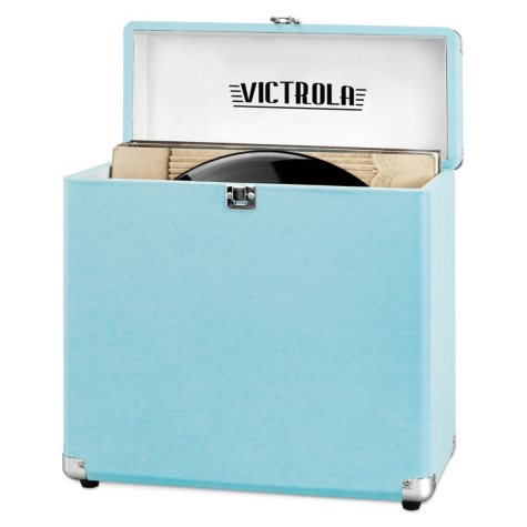 Victrola Storage Case for Vinyl Turntable Records - Turquoise