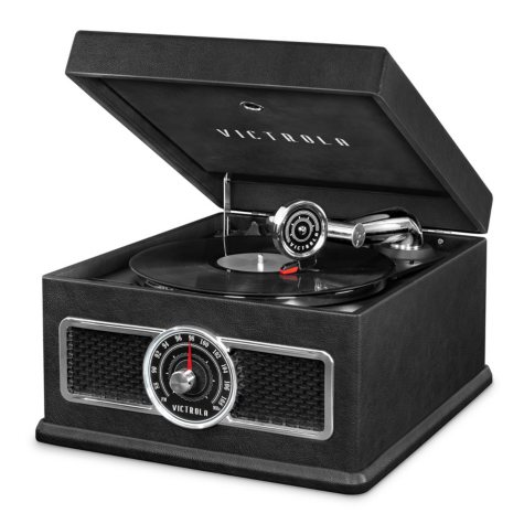 Victrola 5-in-1 Nostalgic Bluetooth Record Player with CD, Radio, Record Storage and 3-Speed Turntable - Various Colors