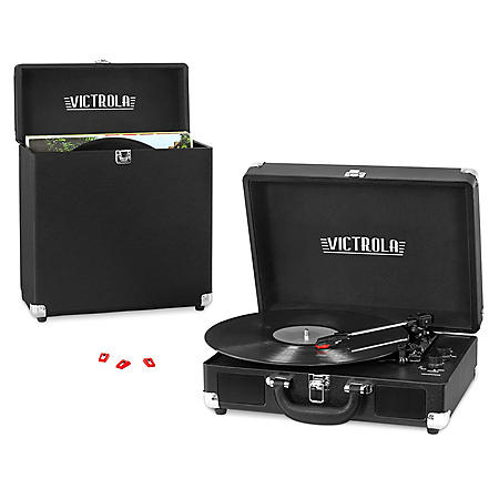 Victrola 3 Speed Record Player Bundle Includes A 3 Speed