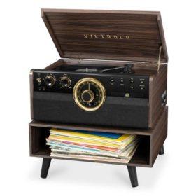 Victrola Empire Mid-Century Modern Record Player Bundle