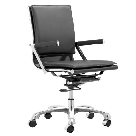 Serene Ergonomic Low-Back Office Chair, Choose a Color