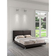 Mirabel Espresso Bed (Choose Size)