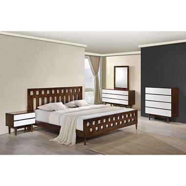 Contrast Walnut Bed (Choose Size)