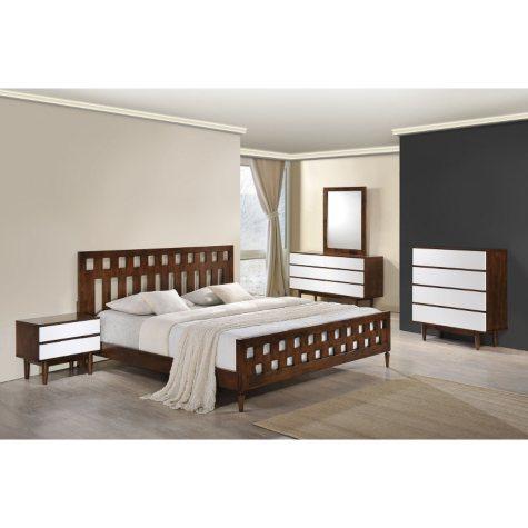 Contrast Walnut Bed (Choose Size)