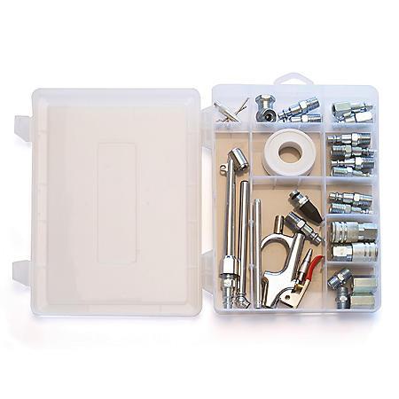 Primefit 30 Piece Air Compressor Accessory Kit with Storage Case