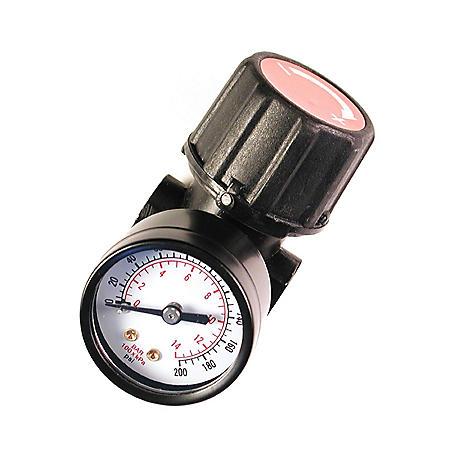 "Primefit Compressor Replacement Air Regulator with Gauge - 1/4"" NPT"