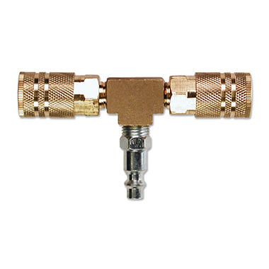 Primefit 2-Way T-Style Air Manifold - 1/4