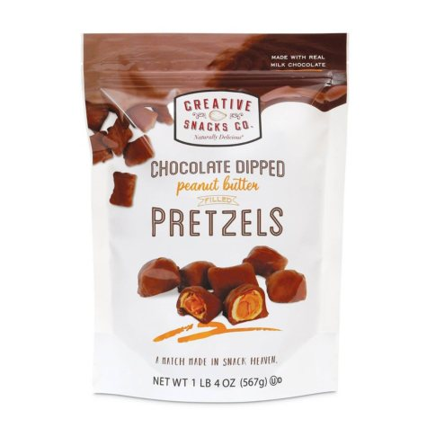 Chocolate Dipped Peanut Butter Filled Pretzels (1.25 lbs.)