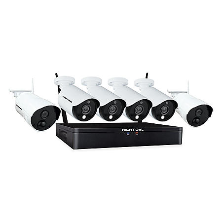 Night Owl Expandable 12 Channel 1080p HD Hybrid System with 4 Wired Spotlight Cameras, 2 1080p Wireless Cameras, 1TB HDD