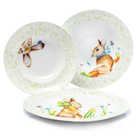 3-Piece Bunny Porcelain Serveware Set
