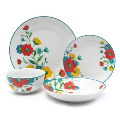 16-Piece Spring Floral Porcelain Dinnerware Set  sc 1 st  Samu0027s Club & Dinnerware - Samu0027s Club