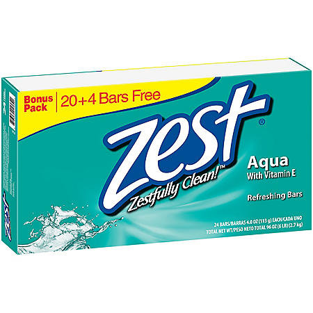 Zest Aqua Refreshing Soap (4 oz., 24 ct.)